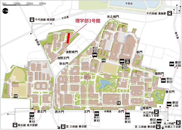 学科所在地周辺の地図
